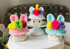 Ravelry: CrochetAlaDia's Unicorn cupcake marshmallow mug hat Raspberry Smoothie, Apple Smoothies, Cute Marshmallows, Unicorn Cupcakes, Hat Crafts, Arm Knitting, Tray Decor, Savoury Cake, Favorite Holiday