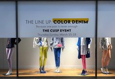 "NEIMAN MARCUS, Houston, Texas, ""The Line Up... Color Denim"", pinned by Ton van der Veer"