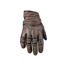 Speed and Strength 'Rust and Redemption' Mens Distressed Dark Brown Leather Gloves