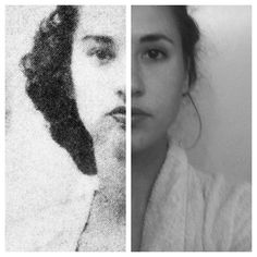 A woman and her grandmother, both at age 20.