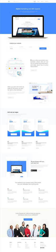 Wonderful premium #PSD template for #digital #marketing agencies landing page website download now➩  https://themeforest.net/item/digital-marketing-landing-page/19408347?ref=Datasata