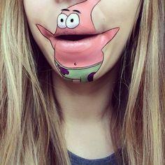 Seriefigurerna får liv med hjälp av smink och hennes egen mun. Otroligt snyggt gjort! https://delbart.se/seriefigurer-mun/