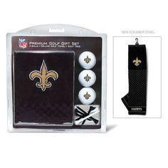 New Orleans Saints Golf Towel with Golf Balls Gift Set