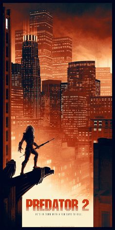 'Predator (Regular Edition) print by Matt Ferguson for Bottleneck Gallery at New York Comic Con 2018 Predator Movie, Predator Alien, Space Movies, Sci Fi Movies, Action Movies, Horror Movies, Aliens, Superhero Poster, Horror Artwork