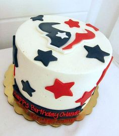 Houston Texans birthday cake. Wish i saw this before my husband's b-day, but there's always next year!