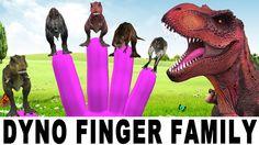 Dinosaurs Finger Family Nursery Rhymes - 3D Animation Cartoons for Child...