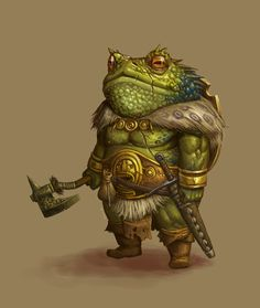 CONCEPT : Toad warrior by Ancorgil ( http://ancorgil.deviantart.com/art/CONCEPT-Toad-warrior-132474688, 2009 )