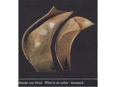 Renske van Driel - Vaasduo Wind in de zeilen (keramiek/klei)