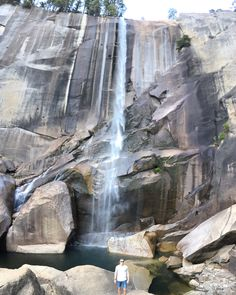 Hike up to vernal falls in Yosemite national park