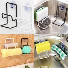 Kitchen Organizer Rack Sink Storage Draining Towel sponge Holder Suction Cup #Unbranded