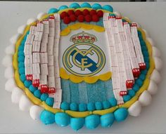 Tarta Real Madrid para cumpleaños.