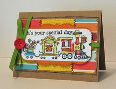 Fun Train Card by mommy2darlings - Cards and Paper Crafts at Splitcoaststampers