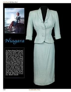 "Dress from the movie ""Niagara"""
