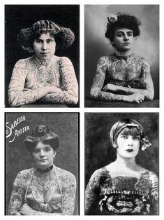 Awesome vintage women tattoos oldschool tattooed women vintage tattoo 1912 old school tattoo vintage flash tattoo Vintage Style Tattoos, Retro Tattoos, Old Tattoos, Tattoo Vintage, Tatoos, Voodoo Tattoo, Tattoo People, Old Tattooed People, Tattoed Women