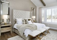 Cozy Monochromatic beige and white transitional style bedroom decor with rh Adler Shelter bed replica #bedroom #bedroomdecor #bedroomdesign #luxurybedroom #bed #interiordesign #design #interior #homedecor #architecture #home #decor #interiors #homedesign #bedding #nightstand #glambedroom #modernbedroom #custombed #luxuryrybed
