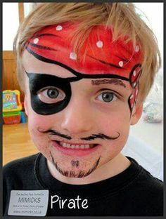 Simple face painting designs are not hard. Many people think that in order to have a great face painting creation, they have to use complex designs, rather then Pirate Face Paintings, Face Painting For Boys, Face Painting Designs, Paint Designs, Body Painting, Christmas Face Painting, Kids Makeup, Boy Face, Child Face