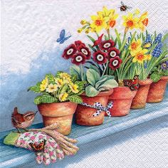 4517 Servilleta decorada Flores