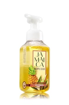 Jamaica Pineapple Colada Gentle Foaming Hand Soap - Inspired by our favorite destinations, juicy mandarin, green pineapple & vanilla milk get us into an island state of mind