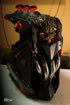 Build A Computer 686799011896101713 - Case mod custom computer diy Ghost Rider – Cooler Master – CASE MOD Gaming Computer Setup, Gaming Pc Build, Gamer Setup, Computer Build, Gaming Pcs, Gaming Room Setup, Pc Setup, Computer Case, Computer Gadgets