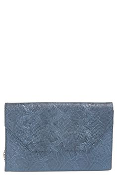 2192c8da4f08 Halogen® Embossed Leather Envelope Clutch available at  Nordstrom Nordstrom