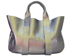 Pretty low key, considering that it's an iridescent rainbow tote bag. Want.