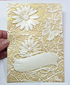 Delightfuld Daisies 3D Embossing folder