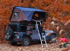iKamper skycamp rooftop tent inspired by jack kerouac's on the road - Camping Ideas Auto Camping, Best Tents For Camping, Camping Gear, Outdoor Camping, Camping Outdoors, Camping Hacks, Rooftop Tent Camping, Camping Lights, Camping Equipment