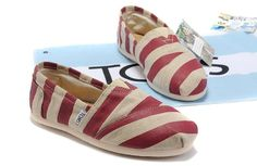 Toms women Zebra shoes Red [toms109] - $19.95 :