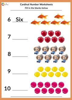Printable Cardinal Numbers English Worksheets for your Child (24-36 Months) - Ira Parenting