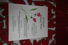 Valentine's Dinner Menu 2012. Made on my computer
