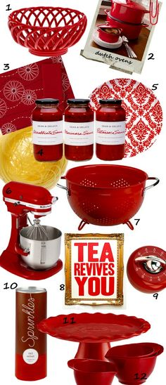 I'm doing red accents for my kitchen! Registered for the red Kitchen Aid and tea kettle!