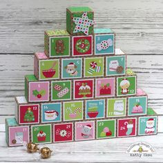 My Happy Place: Doodlebug Design: Milk & Cookies Advent Calendar Christmas Paper Crafts, Holiday Crafts For Kids, Beautiful Christmas Cards, Pink Christmas, Christmas Ideas, Cool Advent Calendars, Santa Stamp, Countdown Calendar, Milk Cookies