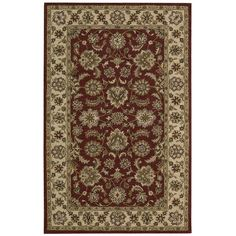 Nourison India House IH72 Red Area Rug 41448