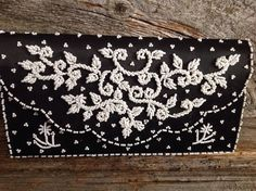 Black & White Beaded Evening Bag/Clutch by ThisCharmingBag on Etsy https://www.etsy.com/ca/listing/494683433/black-white-beaded-evening-bagclutch