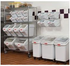 White 21 Gallon Mobile Ingredient Bin Continental 9321 Case of 1 ...