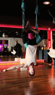 Anti gravity yoga/aerial yoga!