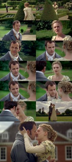 Romola Garai (Emma Woodhouse) & Jonny Lee Miller (Mr. George Knightley) - Emma; This scene is one of my ALL time favorite. The look of love and longing in Mr. Knightly's eyes. And that KISS! Highly recommend!!!!