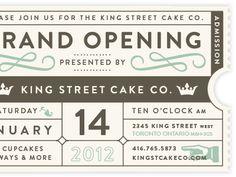 Dribbble - King Street Cake Ticket by Becky Weykamp