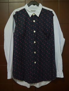 COMME des GARCONS HOMME button front JAPAN long sleeve 100% Cotton SHIRT M/S #CommedesGarons #ButtonFront