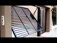 Portón Automático Levadizo - Automatización Pioca - YouTube Steel Gate Design, Front Gate Design, House Gate Design, Door Gate Design, Fence Design, Metal Garage Doors, Electric Garage Doors, Garage Door Styles, Grill Door Design