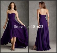strapless chiffon dress hi lo bridesmaid - Google Search