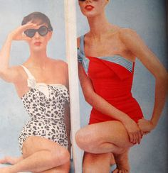 Vogue magazine January 1955, Swim Suits
