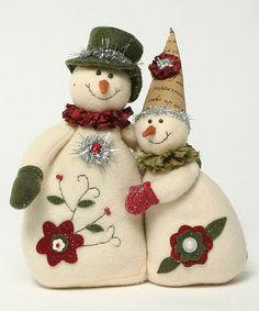 Look what I found on #zulily! Flower Snowmen Couple Figurine by ZiaBella #zulilyfinds