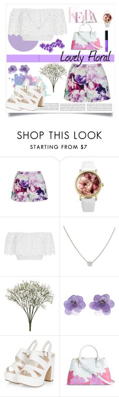 """""""Lilac & floral"""" by jennifer-allison-bulnes-apolo ❤ liked on Polyvore featuring Ally Fashion, Lipsy, Miguelina, Chanel, NARS Cosmetics and Vera Bradley"""