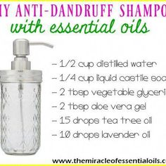Find out how to make an easy DIY dandruff shampoo with essential oils in this post! It's crazy how anti-dandruff shampoos on the market actually exacerbate dandruff for some people (including me and my sister). Do you want to know the reason why? It's bec Anti Dandruff Shampoo, Diy Shampoo, Natural Shampoo, Dandruff Remedy, Essential Oils For Babies, Diy Hair Mask, Young Living Oils, Soap Recipes, Home Made Soap