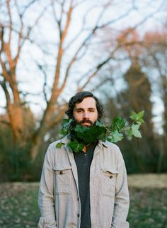 Flowerbeard with ivy by Sarah Winward. Photo by Carissa Gallo.