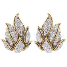 Shreve, Crump & Low   Diamond,Earrings,Round Brilliant Cut ❤ liked on Polyvore