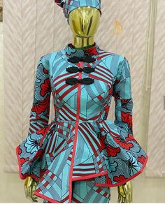 African Blouses, African Lace Dresses, Ankara Skirt And Blouse, Latest Ankara Styles, Blouse Styles, African Fashion, Dress Outfits, Salama, Church Outfits