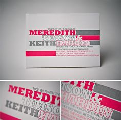 Meredith Letterpress Wedding Invitation