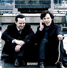 """The second Reichenback theory... """"Shhh"""" [gifset]"""